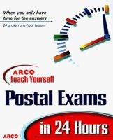 Arco Teach Yourself To Pass The Postal Service Exams In 24 Hours