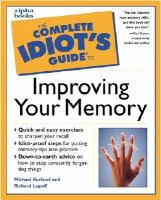 Complete Idiot's Guide To Improving Your Memory