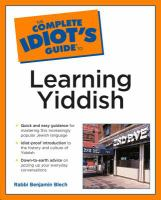 The Complete Idiot's Guide to Learning Yiddish