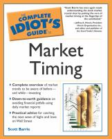 The Complete Idiot's Guide to Market Timing