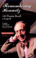 Remembering Horowitz