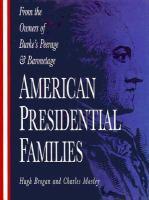 American Presidential Families