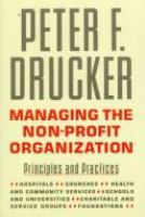 Managing the Non-profit Organization
