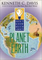 Don't Know Much About the Planet Earth (for Kids!)