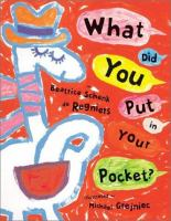 What Did You Put in your Pocket?