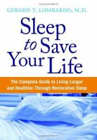 Sleep to Save your Life