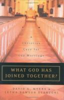 What God Has Joined Together?