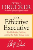 The Effective Executive