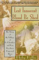 Lest Innocent Blood Be Shed