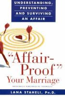 """""""Affair-proof"""" your Marriage"""