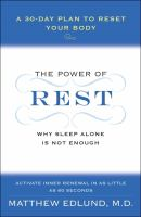 The Power of Rest