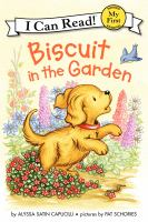 Biscuit in the garden