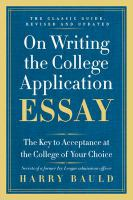On Writing the College Application Essay