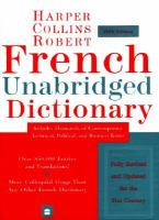 Collins-Robert French-English, English French Dictionary