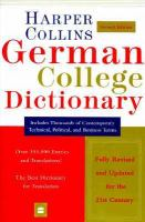 Collins German-English, English-German Dictionary
