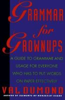 Grammar for Grownups