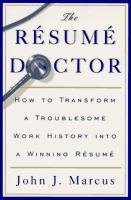 The Resume Doctor