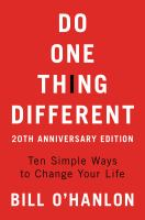 Do One Thing Different Updated Edition