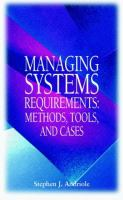 Managing Systems Requirements