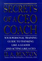 Secrets of A CEO Coach