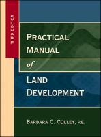 Practical Manual of Land Development