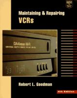 Maintaining & Repairing VCRs