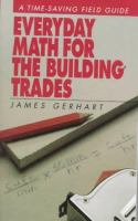 Everyday Math For The Building Trades