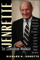 Jenrette, the Contrarian Manager