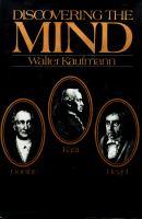 Goethe, Kant, and Hegel