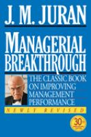 Managerial Breakthrough