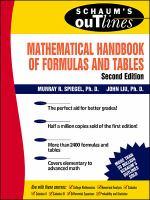 Mathematical Handbook of Formulas and Tables (Schaum's Outline Series)