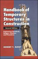 Handbook of Temporary Structures in Construction