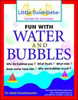 Fun With Water and Bubbles