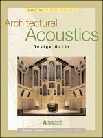 Architectural Acoustics Design Guide