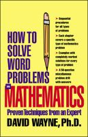 How to Solve Word Problems in Mathematics