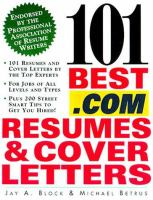 101 Best .com Resumes and Cover Letters