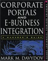 Corporate Portals and E-business Integration