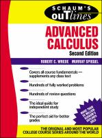 Schaum's Outline of Theory and Problems of Advanced Calculus