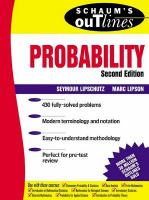 Schaum's Outline of Theory and Problems of Probability