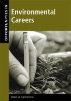Opportunities In Environmental Careers
