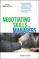 Negotiating Skills for Managers (Briefcase Book)