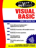 Schaum's Outline of Theory and Problems of Programming With Visual Basic