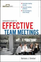 Manager's Guide to Effective Meetings (Briefcase Book)