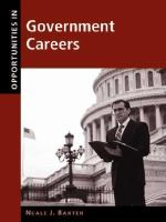 Opportunities in Government Careers