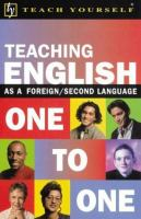 Teaching English One to One