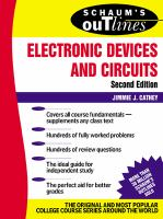 Schaum's Outline of Theory and Problems of Electronic Devices and Circuits