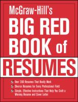 McGraw-Hill's Big Red Book of Resumes