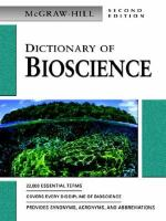 McGraw-Hill Dictionary of Bioscience