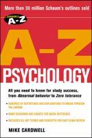 Schaum's A-Z Psychology