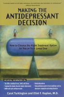 Making the Antidepressant Decision